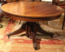 Federal Style Inlaid Mahogany Dining Table