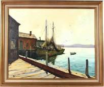 Oil on Canvas Gloucester Pier JJEnwright