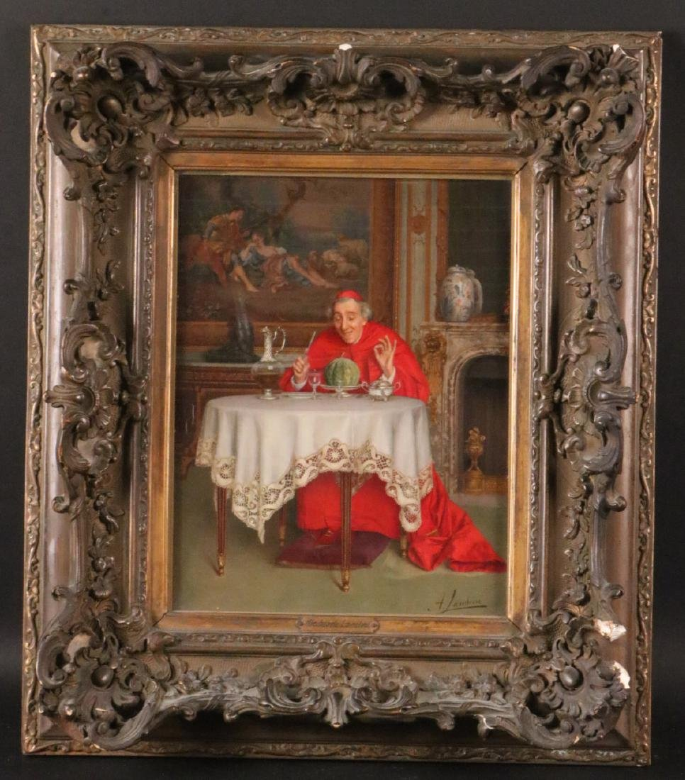 Oil on Board, Catholic Cardinal, Andrea Landini