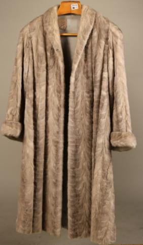 Dyed Silver Gray Mink Coat
