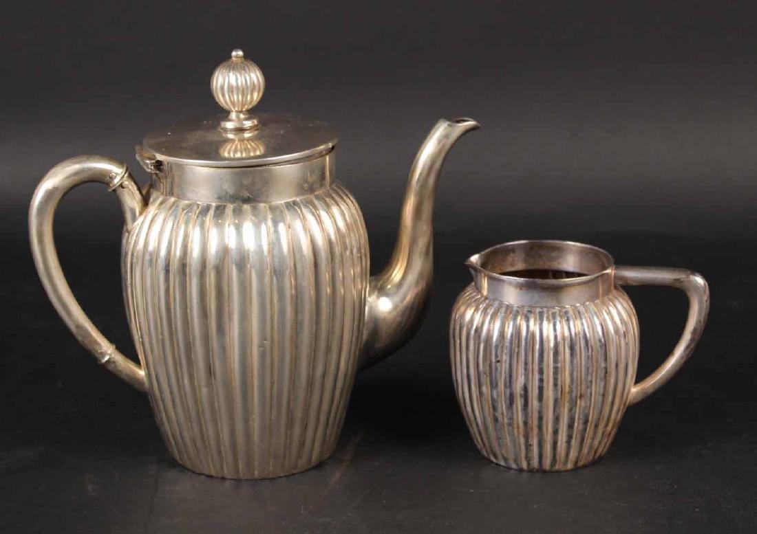German 800 Silver Coffee Pot & Cream Jug
