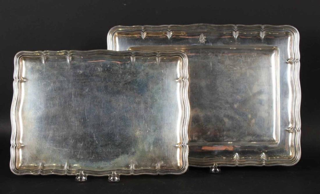 Two Posen Germany 800 Silver Trays