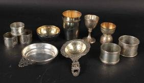 Group of Silver Table Items