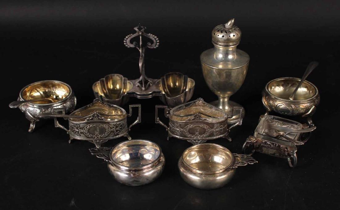 Group of Silver Salt Cellars