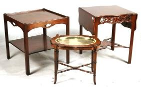Baker Chippendale Style Mahogany Side Table