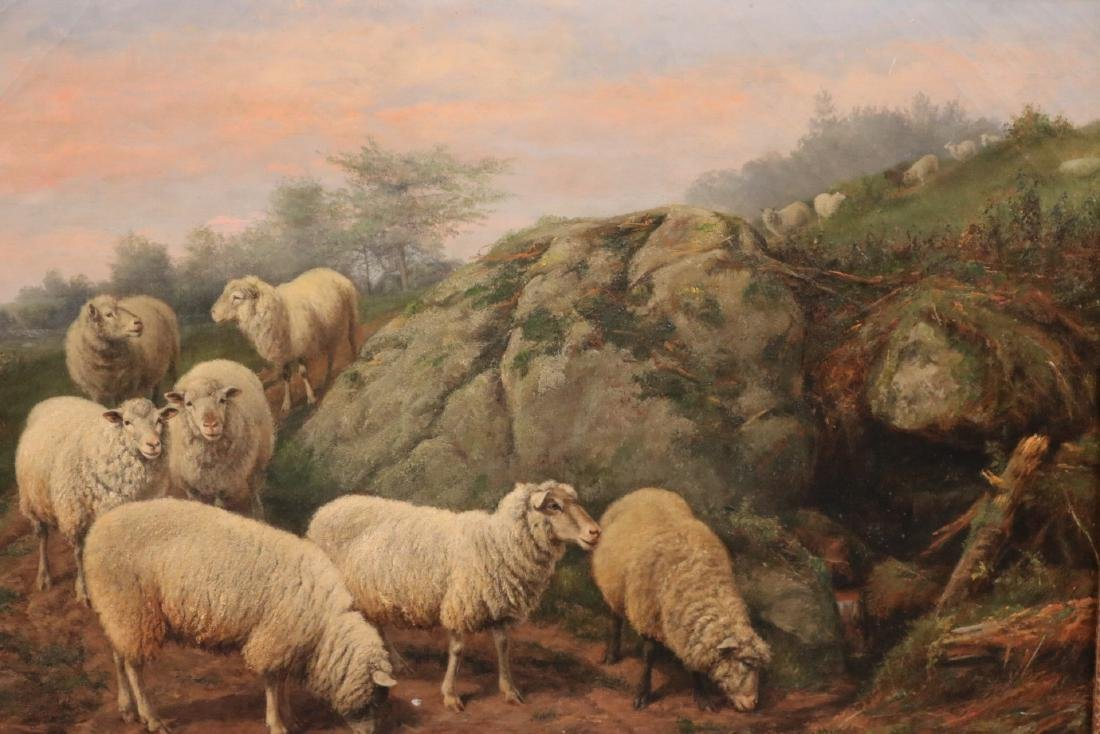 Oil on Canvas, Sheep in a Field, Arthur F. Tait - 2