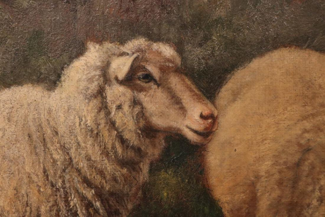 Oil on Canvas, Sheep in a Field, Arthur F. Tait - 3