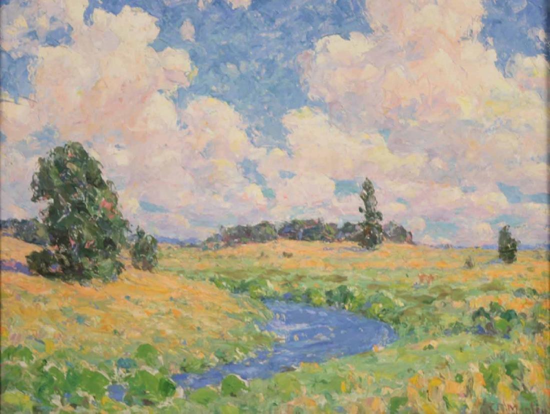 Oil on Board, Landscape with Creek - 2