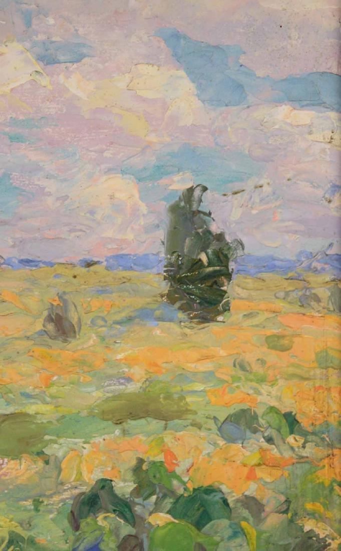 Oil on Board, Landscape with Creek - 4
