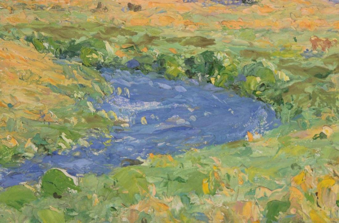 Oil on Board, Landscape with Creek - 5