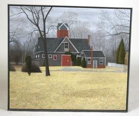 "Oil on Canvas, Landscape, ""The Barn,"" Scott Kahn"
