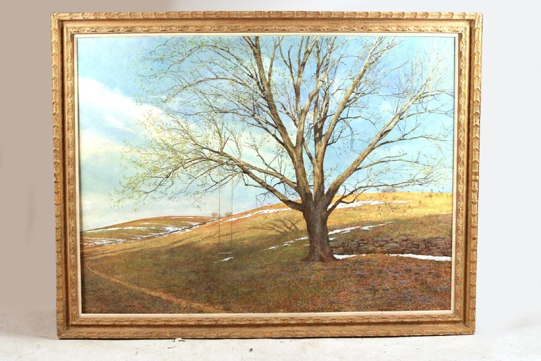 Oil on Masonite, Landscape, David B. Armstrong