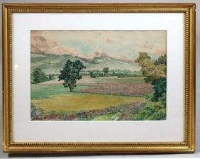 Watercolor, Flower Field, Ivar Eils Evers