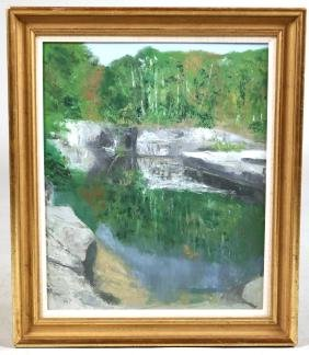 Oil on Canvas, Quarry Dorset, Leavy