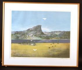 Lithograph, Tropical Landscape, Arthur Boyd