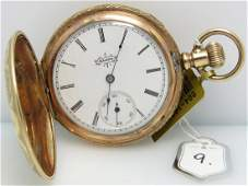 ANTIQUE ELGIN GOLD FILLED POCKET WATCH, HUNTER CASE