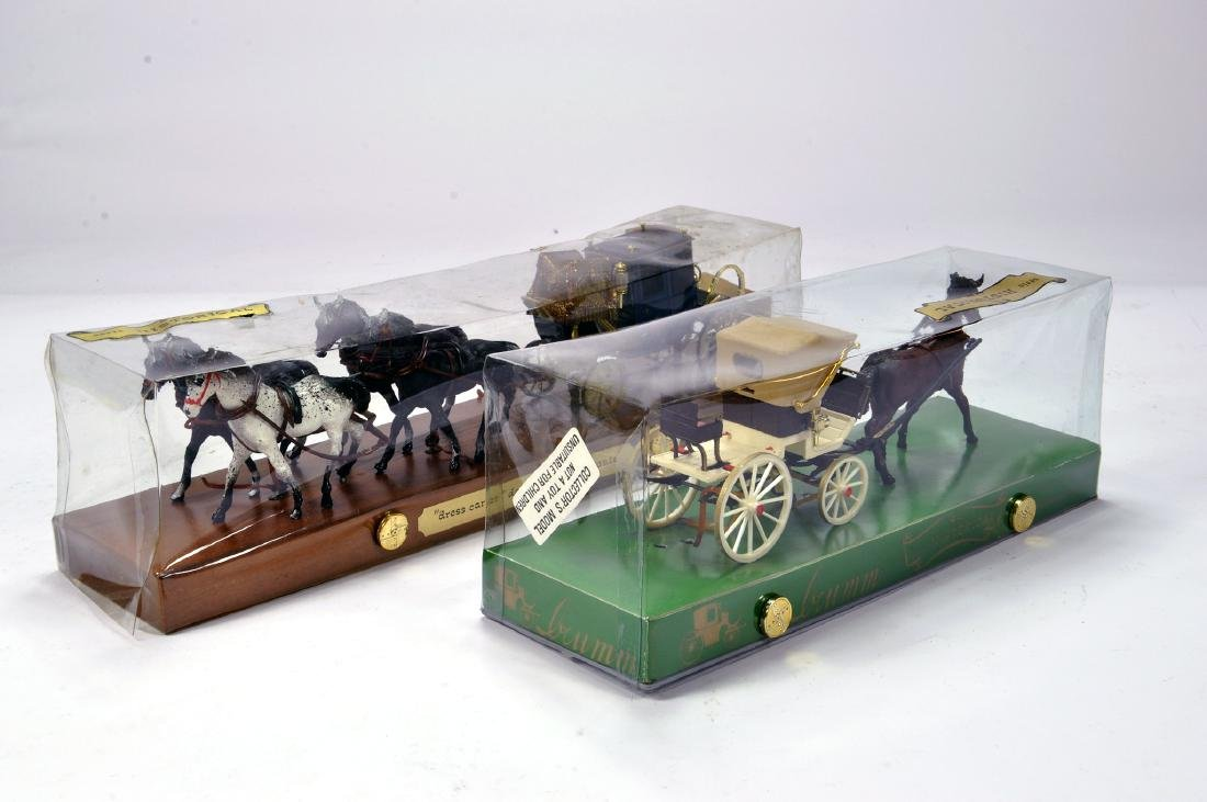 Brumm (Italy) 1/43 Horse Drawn Carriage Duo of Sets.