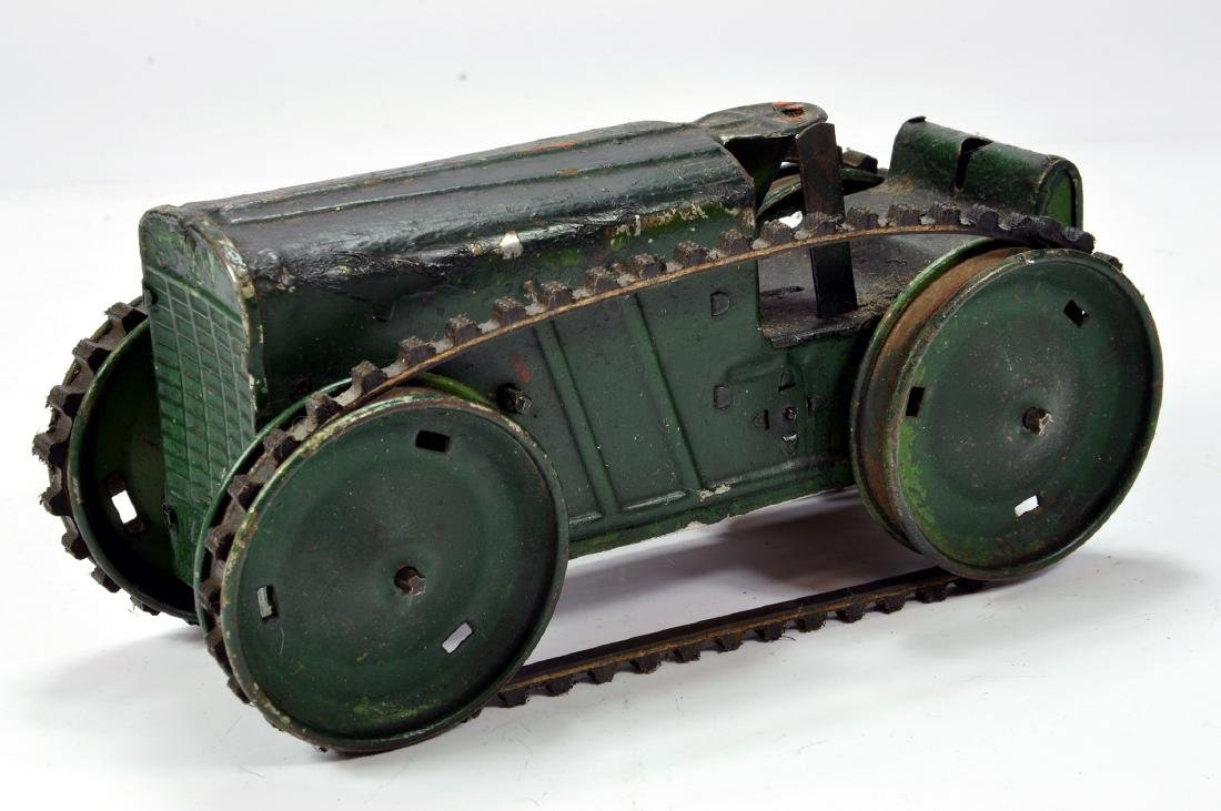 Triang Clockwork Tracked Crawler tractor in green.