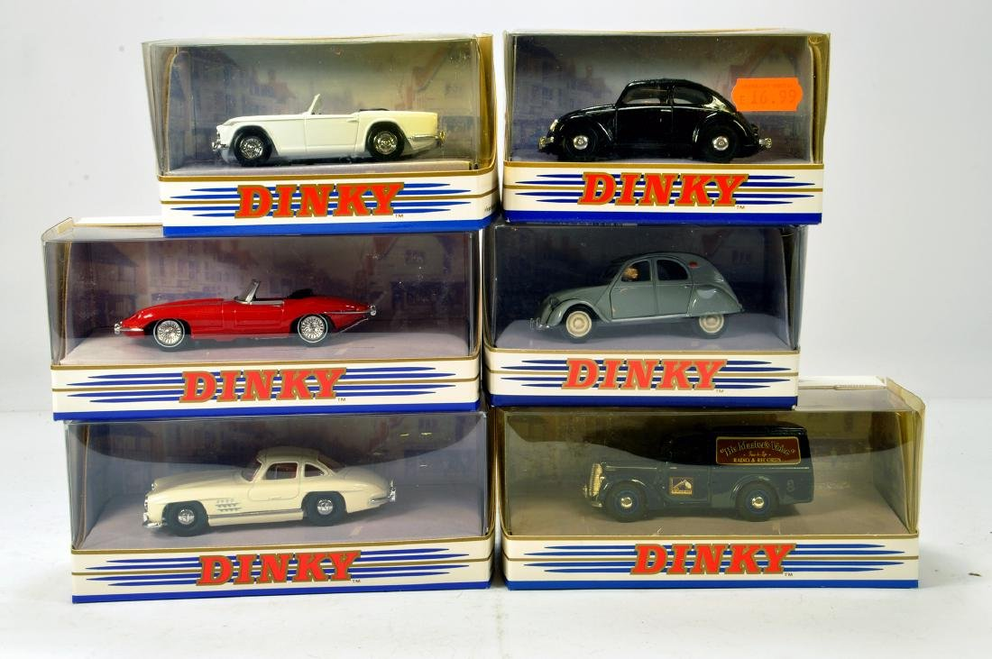 A group of Matchbox Dinky vintage classic diecast car