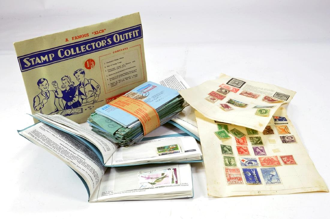 Group of postage stamps. Hundred of issues. Various