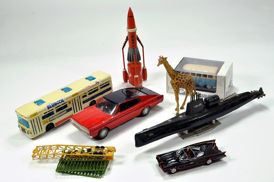 Assorted group including Batmobile, Thunderbird 3 and