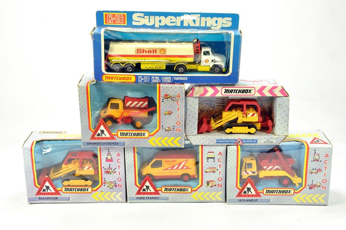 A Group of boxed Matchbox diecast construction issues