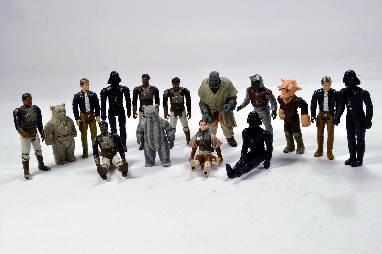 A group of early Star Wars Figures. Kenner etc.