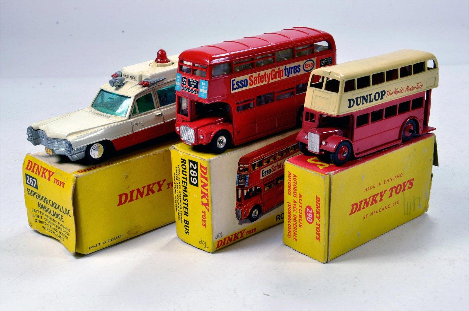 Dinky Toys Diecast Bus Trio comprising No. 289