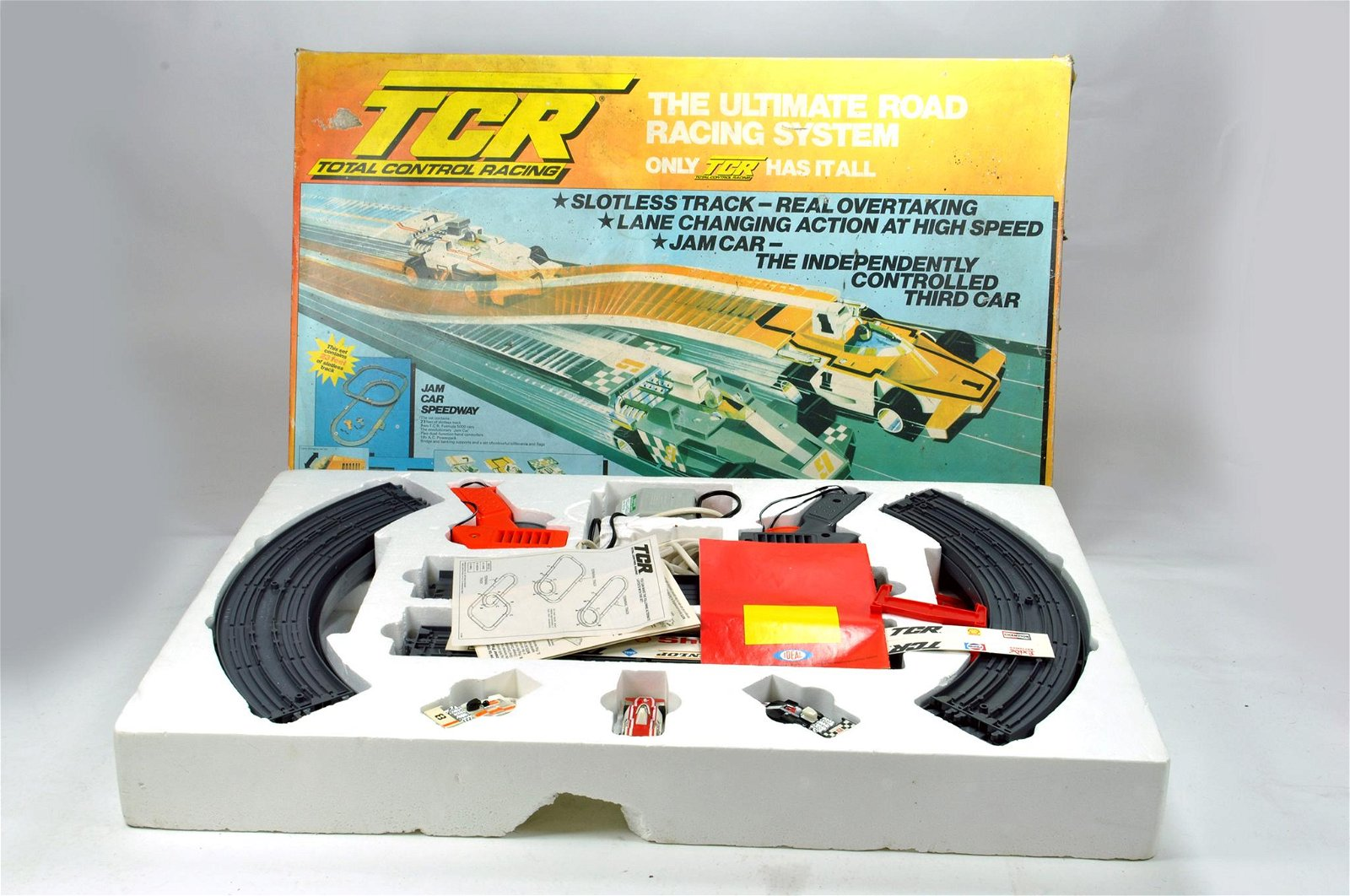 TCR Road Racing Car Set. Appears Complete.