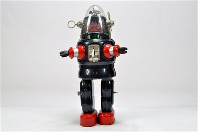 A scarce Japanese Toy Mechanized Robot, battery