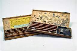 Duo of boxed sets of vintage late 19th century issue