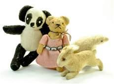 Vintage Panda Teddy Bear, looks homemade plus small