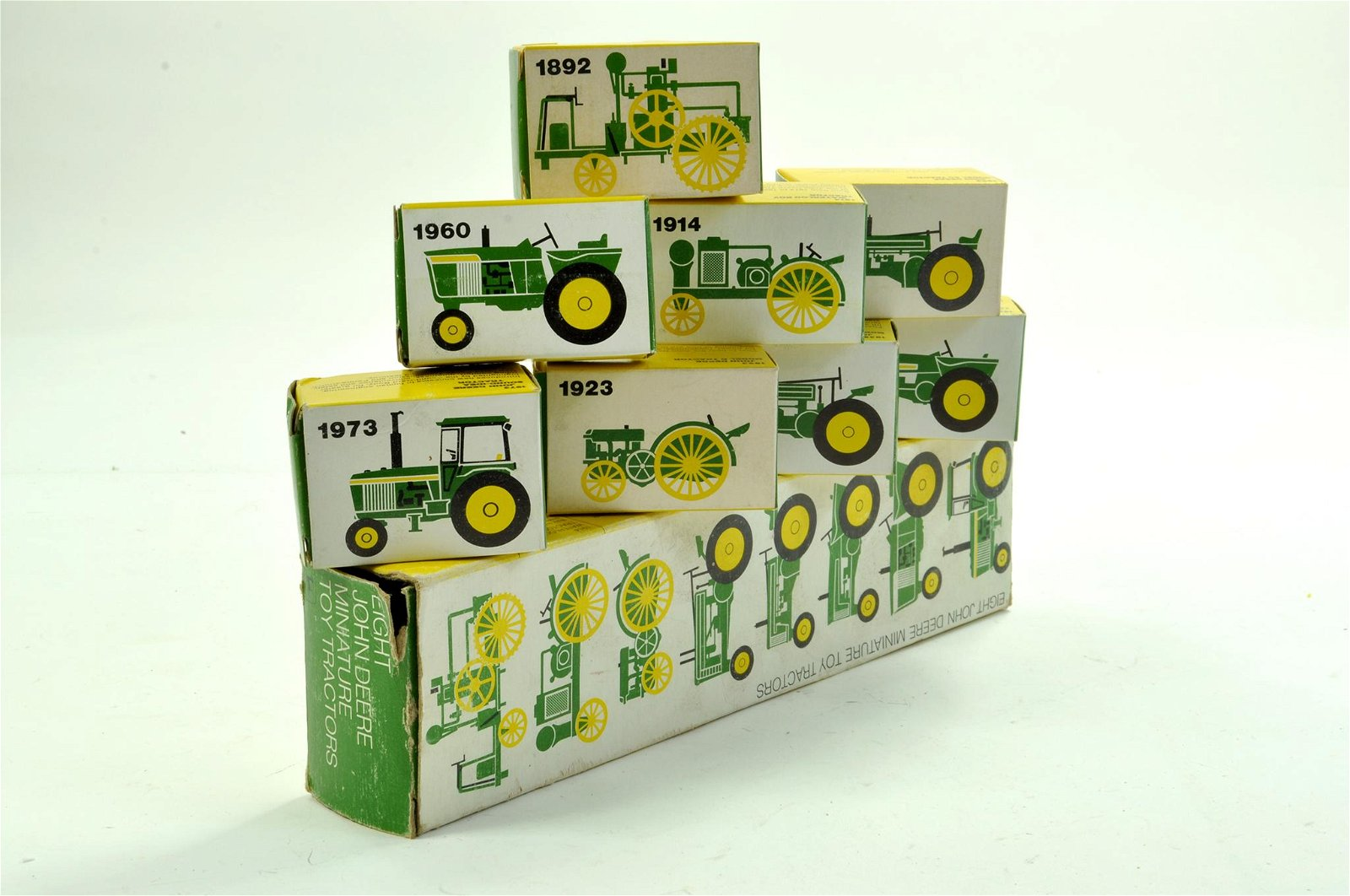 Ertl 1/64 Tractor Timeline Set comprising John Deere