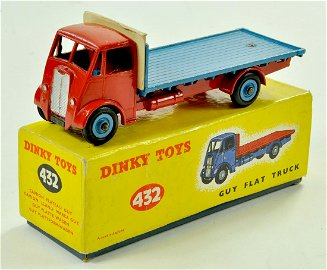 Dinky No. 432 Guy (2nd Type) Flat Truck. Issue has red