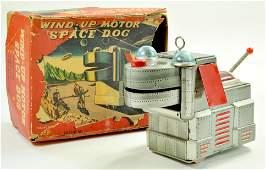 KO Yoshiya Original 725 Tinplate Wind up Space Dog