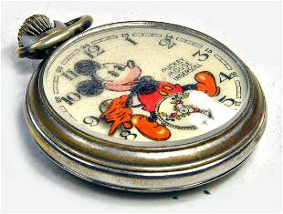 Ingersoll 1930's Vintage Disney Mickey Mouse Pocket