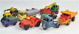 Mostly playworn group of diecast, various makers