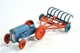 Moko Ferguson Tractor and Rake Combination in Blue and