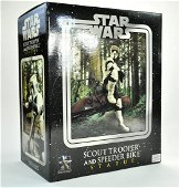 Star Wars Gentle Giant Scout Trooper and Speeder Bike