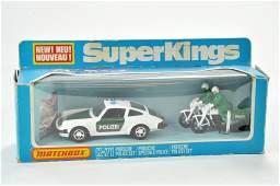 Matchbox Superkings No. K71 Porsche Police Set for