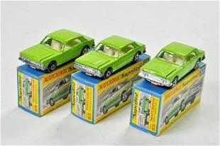 Matchbox Superfast x 3 no. 53C Ford Zodiac Mk.IV, with