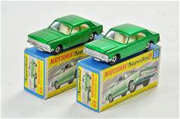Matchbox Superfast x 3 no. 53A Ford Zodiac Mk.IV, with