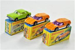 Matchbox Superfast x 3 no. 53A Ford Zodiac Mk.IV, plus