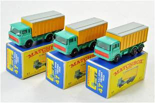 Matchbox Regular Wheels x 3 no. 47 DAF Tipper Container