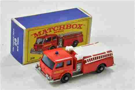 Matchbox Regular wheels No. 29C Fire Pump Truck. Red
