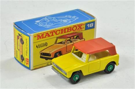 Matchbox Regular Wheels. No. 18E Field Car. Yellow