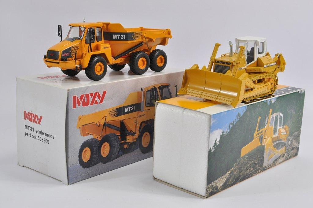 NZG 1/50 Moxy MT31 Dump Truck plus Conrad 1/50 Liebherr