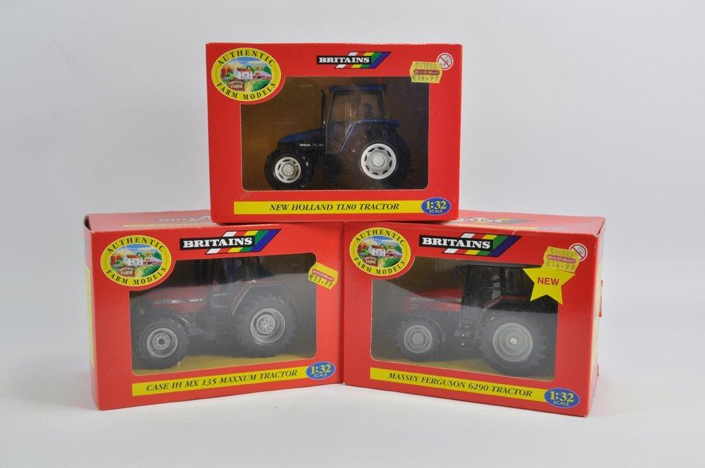 Britains 1/32 Tractor Trio including Case MX135, New
