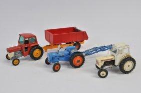 Matchbox, Dinky And Corgi Farm Vehicle Group Including