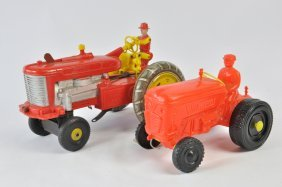 Duo Of Unusual Tractor Toys Including Marx Tricky Tommy